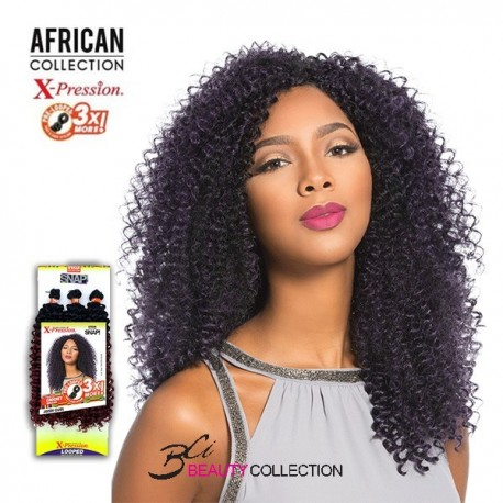 Sensationnel African Collection SNAP 3X Pre-Looped Crochet Braid JERRY CURL 14""
