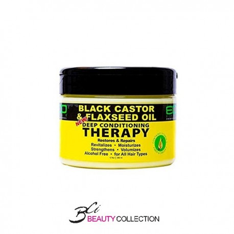 ECO STYLE BLACK CASTOR & FLAXSEED OIL DEEP CONDITIONING THERAPY 12OZ